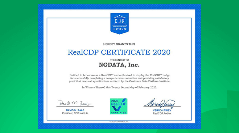 NGDATA IEP Real CDP certified